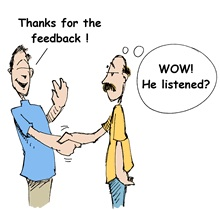 The inability to tolerate feedback is an inability to allow yourself personal growth.